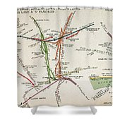 Transport Map Of London Shower Curtain