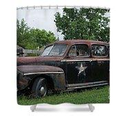 Transportation - Classic - Highway Patrol Shower Curtain