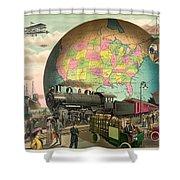 Transportation Shower Curtain by Gary Grayson