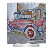 Transportation Grunge Shower Curtain