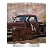 Transportation - Rusted Chevrolet 3100 Pickup Shower Curtain