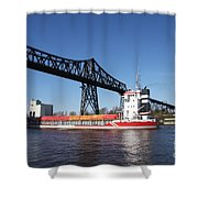 Transporter Bridge Over Canal Rendsburg Shower Curtain