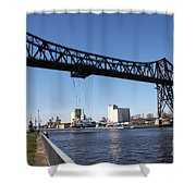 Transporter Brigde - Schwebefaehre Rendsburg Shower Curtain