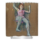 Trapeze Artist At The Medrano Circus Shower Curtain