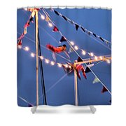 Trapeze Blur Shower Curtain