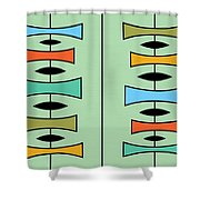 Trapezoids 3 Shower Curtain