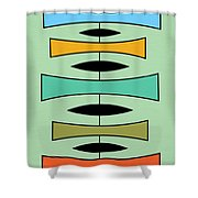 Trapezoids Shower Curtain