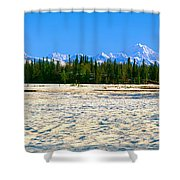 Trapper Creek And Mount Mckinley, Alaska Shower Curtain