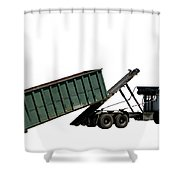 Trash Truck Shower Curtain by Olivier Le Queinec