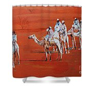 Travel By Camels Shower Curtain