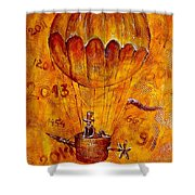 Travel In Time 651 - Marucii Shower Curtain