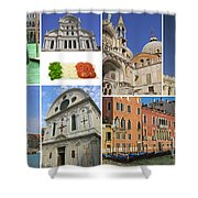 Travel To Venice  Shower Curtain