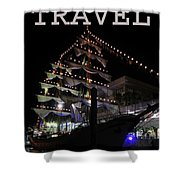 Travel Tall Sailing Ship Work Two Shower Curtain