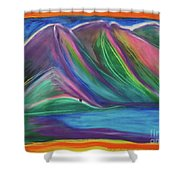 Travelers Mountains By Jrr Shower Curtain