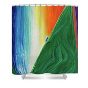 Travelers Rainbow Waterfall By Jrr Shower Curtain