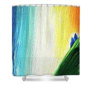 Travelers Rainbow Waterfall Detail Shower Curtain