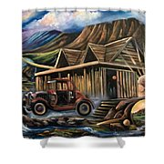 Traveling Car Shower Curtain