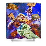 Traveling Light Shower Curtain