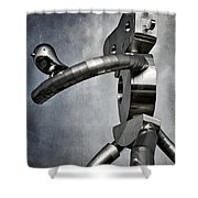 Traveling Man Shower Curtain by Joan Carroll