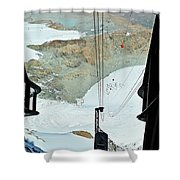 Traveling To The Top Shower Curtain
