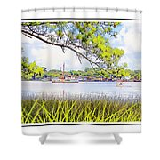Trawler Waterscape Shower Curtain