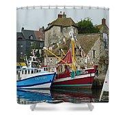 Trawlers In Honfleur Shower Curtain