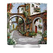 Tre Archi Shower Curtain by Guido Borelli