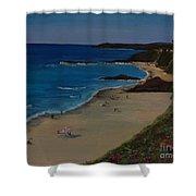 Treasure Island Laguna Beach Shower Curtain