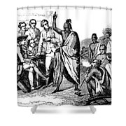 Treaty With Iroquois Indians Five Shower Curtain