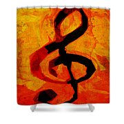 Treble Distressed Shower Curtain