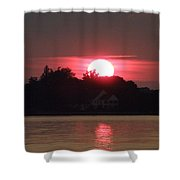 Tred Avon Sunset Shower Curtain by Lainie Wrightson