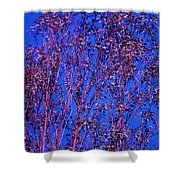Tree Abstract Purple Blue  Shower Curtain