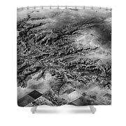 Tree Aerial Landscape V2 Shower Curtain