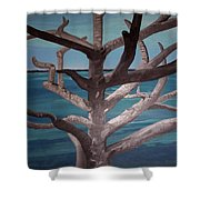 Tree And Beach Shower Curtain