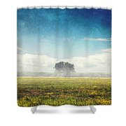 Tree And Meadow Shower Curtain