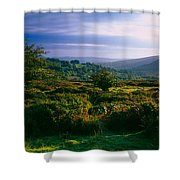 Tree And Plants On A Landscape Shower Curtain