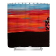 Tree At Sunset II Shower Curtain