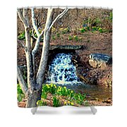Tree By The Brook Shower Curtain