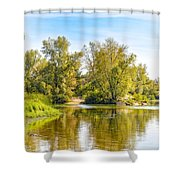 Tree Close To The River Shower Curtain