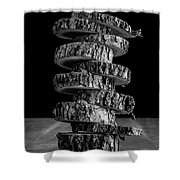 Tree Deconstructed Shower Curtain by Edward Fielding