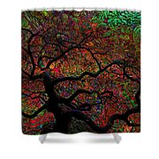 Tree Fabrica Abstract Graphic Shower Curtain