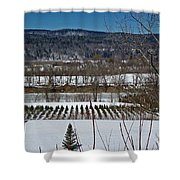 Tree Farm Shower Curtain