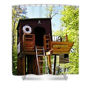 Tree House Boat 2 Shower Curtain