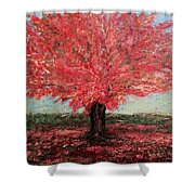 Tree In Fall Shower Curtain