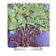 Tree In Three Dee Shower Curtain