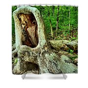 Tree Mouth Shower Curtain