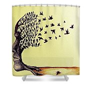 Tree Of Dreams Shower Curtain by Paulo Zerbato