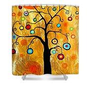 Tree Of Happiness 647 - Marucii Shower Curtain
