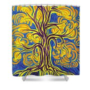 Tree Of Happiness Shower Curtain