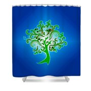 Tree Of Life Shower Curtain by Cheryl Young